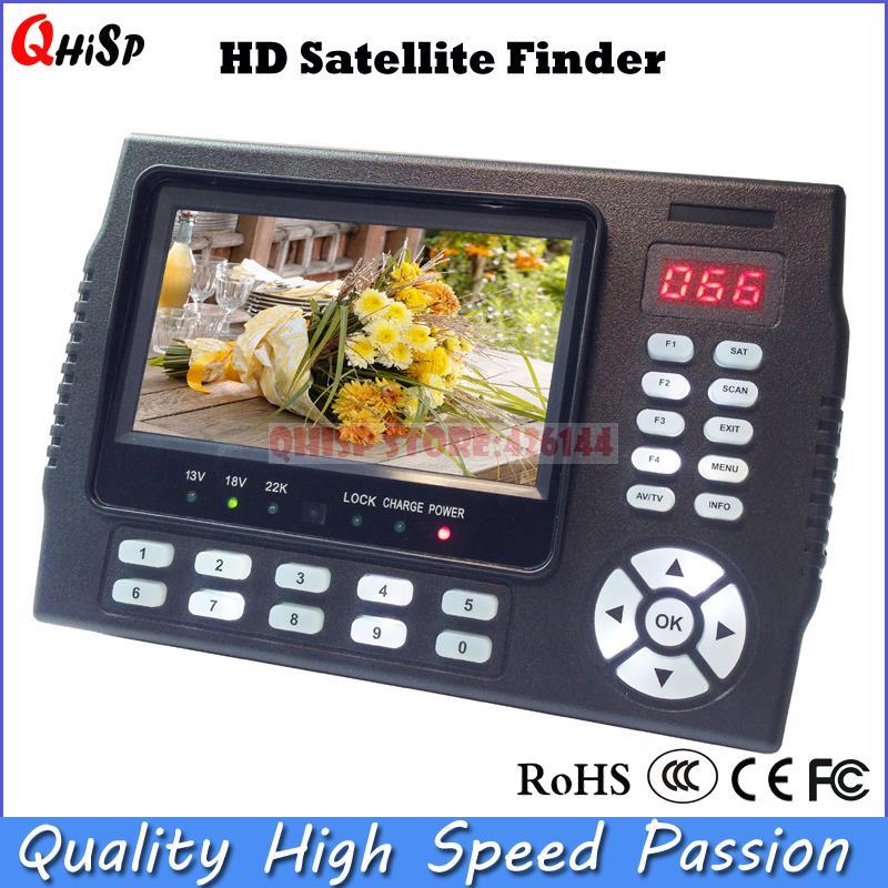 Récepteur TV sat mètre 4.3 pouces Portable multifonctionnel HD détecteur Satellite moniteur dvb s2 mpge 4
