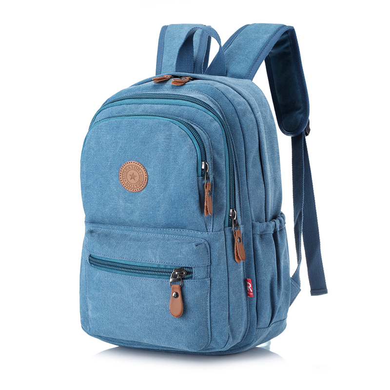 Unisex Environmental Canvas Backpack Large Capacity Computer Backpack Male Casual Travel Bag Fashion Female Shoulder Bag(China)