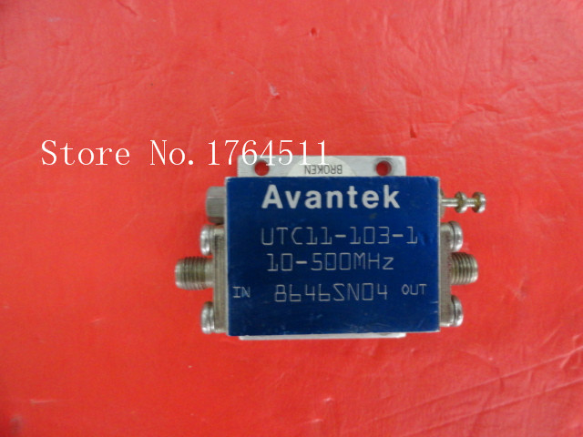 [BELLA] AVANTEK UTC11-103-1 10-500MHz 15V SMA Low Noise Amplifier