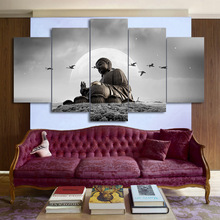 Modern Canvas Living Room Framework HD Home Decor Printed 5 Panel Figure Of Buddha Pictures Painting Wall Art Modular Poster цена