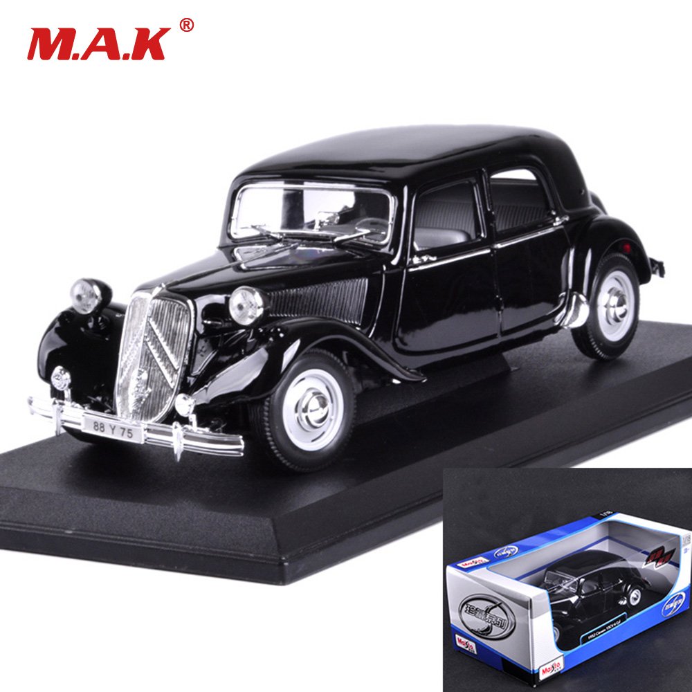 Kid Toys 1/18 Scale Alloy Diecast Classic Car Model Toys 1952 15CV CITROEN with Box for Collection Gift maisto 1952 citroen 15cv 6 cyl 1 18 scale car model alloy toys diecasts