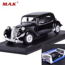 Kinderspeelgoed 1/18 schaal Lichtmetalen Diecast Klassieke automodellen 1952 15CV CITROEN met doos voor collectiegeschenken