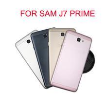 Per Samsung Galaxy J7 Prime G610F G610 On7 2016 Alloggiamento Della Copertura Posteriore Della Batteria di Caso Della Copertura Posteriore Porta Telaio Borsette di Ricambio