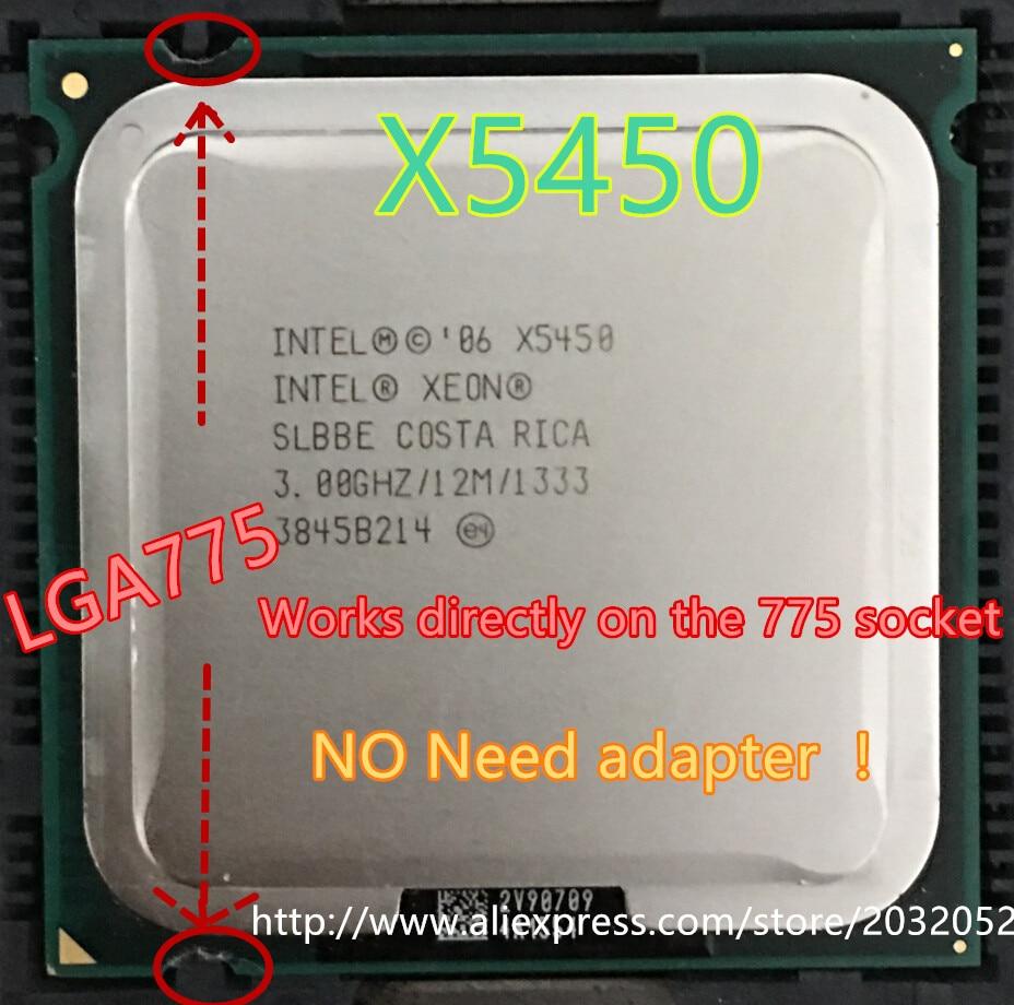 Intel Xeon X5450 3 GHz SLBBE SLANQ LGA 775 125W CPU Processor no adapter
