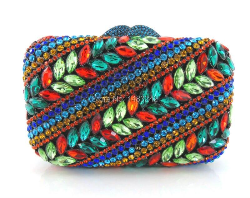 ФОТО GG4 2016 new design hot sale elegant and luxury Rhinestones African Handbag for wedding/party