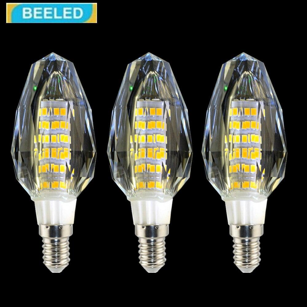 3Pcs/lot crystal LED Bulb Lamp E14 5W 7W Light Bulb lamps 220V Crystal lamp chandelier Home Living Room Energy Saving lighting