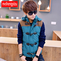 T aliexpress china cheap wholesale size L-4XL 2016 autumn winter new young men fashion casula slim big size Hooded Vest