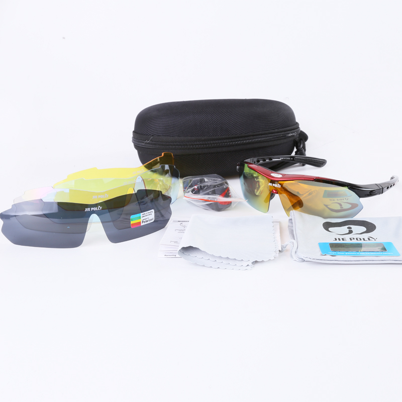 Jiepolly Polarized Radsportbrillen Sportbekleidung Brillen Mit - Radfahren - Foto 2