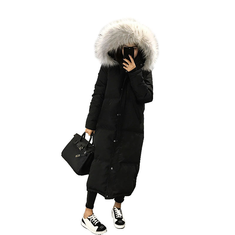 Femmes Inverno Coton Ouatée Taille À Fourrure Parka Plus gray La Black Manteau camel Casaco Chaud Rembourré Capuche Épais Longue Col D'hiver Veste 2018 De wfqSU