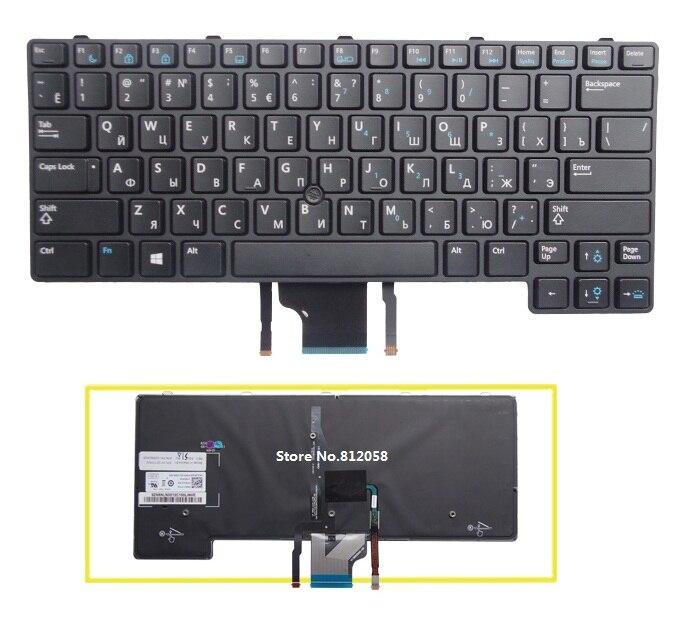 Russian keyboard for Dell E6430U E6430S E6330 laptop RU With backlight
