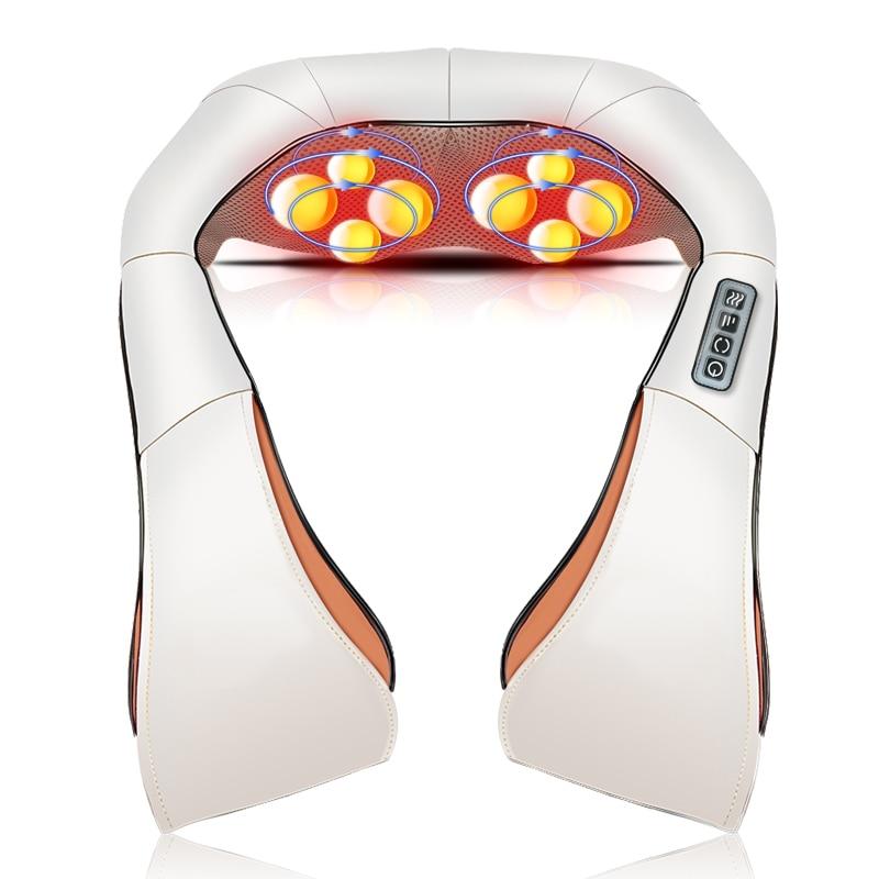 Shiatsu Cervical masajeador de espalda y cuello chal rodillo eléctrico dispositivo de calor Manual China inicio coche máquina de masaje