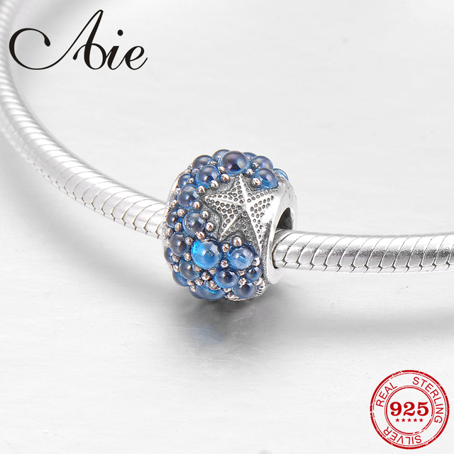 b9a983157d1ec US $10.14 31% OFF|Like grapes 925 Sterling Silver light blue CZ and  starfish fashion fine Bead Fit Original Pandora Charm Bracelet Jewelry  making-in ...