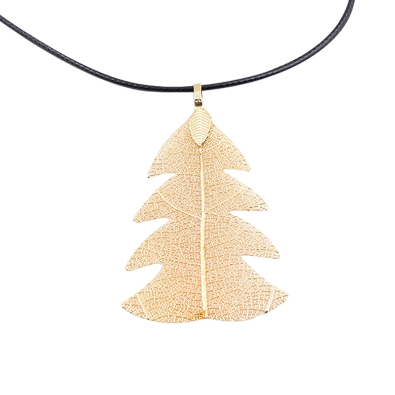 Bijoux Femme Collier 2018 New gold color Women Special Leaves Leaf Sweater Pendant Necklace Ladies Long Chain Jewelry Statement