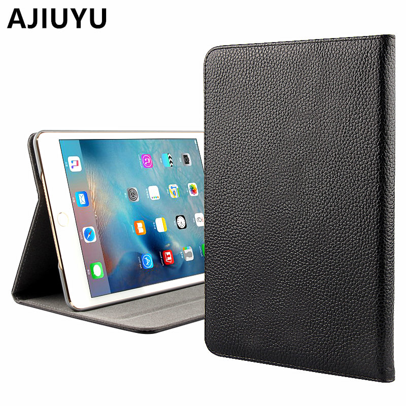 Ajiuyu para Mini Cases de Couro Tablet para Apple Ipad Case Couro Protetora Inteligente Protetor Tampa Genuine Mini2 Mini3 3 2 1