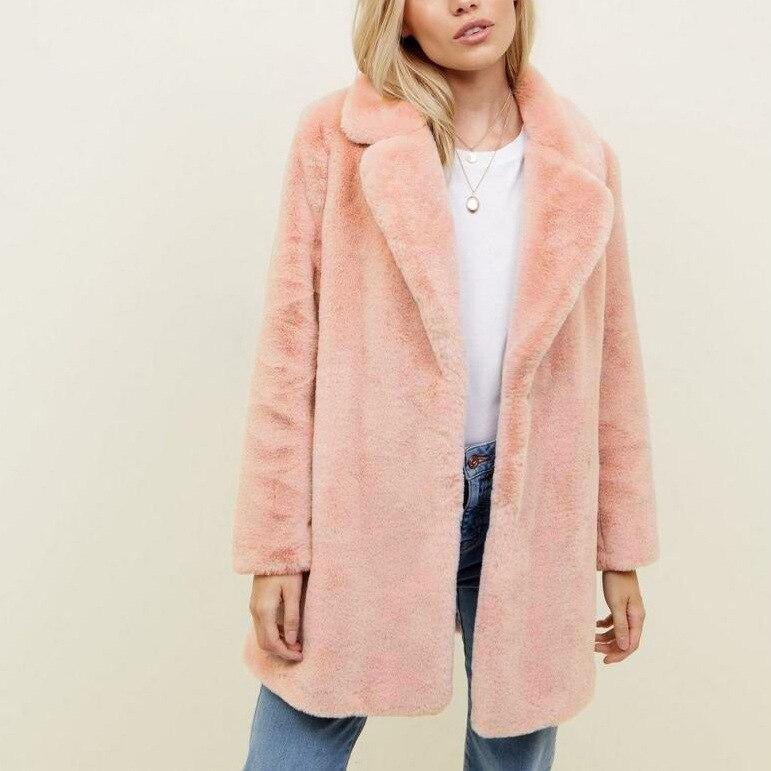 Mince Manches Hiver Femmes Fourrure Rose Élégant Casaco Pele Streetwear Longues Faux Nouvelle 2018 La De Fashion Manteau Plus À Taille Cq8SwPp