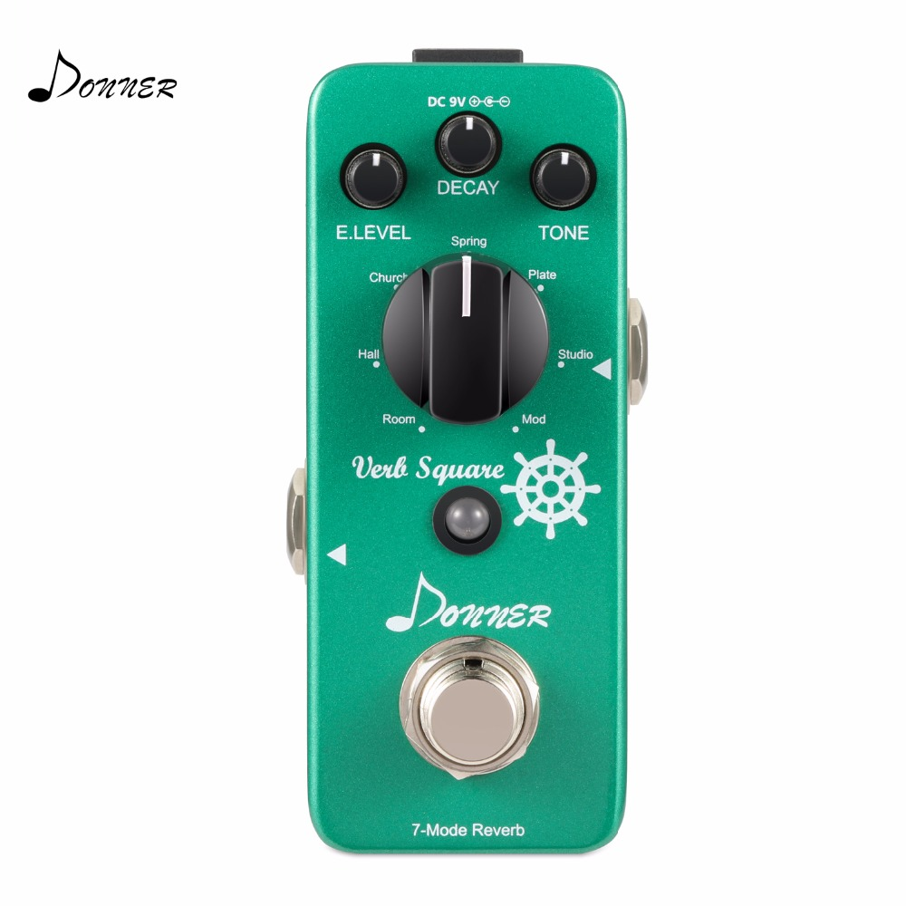 Donner Reverb Guitar Pedal Verb Square 7 Modes Digital Effect Pedal donner guitar effect pedal incredible v mini preamp
