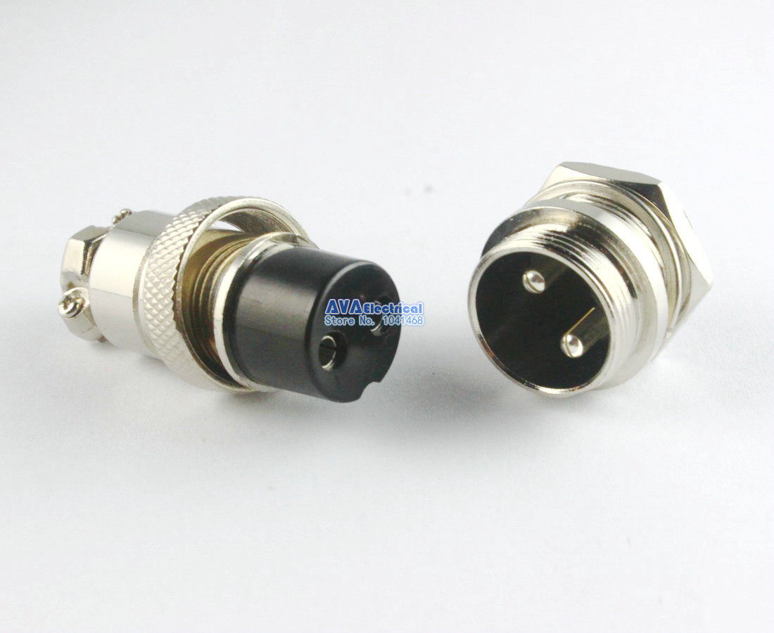5 x Aviation Stecker 20mm 2 Pins GX20 2 Männlich weibliche Panel ...