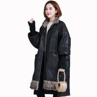 Real Fur Coat Genuine Leather Jacket Sheepskin Coat Autumn Winter Jackt Women Clothes 2018 Korean Mink Fur Down Coats ZT1438