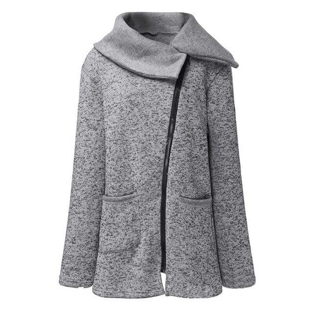 2018 Fashion Jackets Coat Winter Women Plus Size Side Zipper Solid Patchwork   Parkas   For Ladies Hot Coats Women Jacket Winter