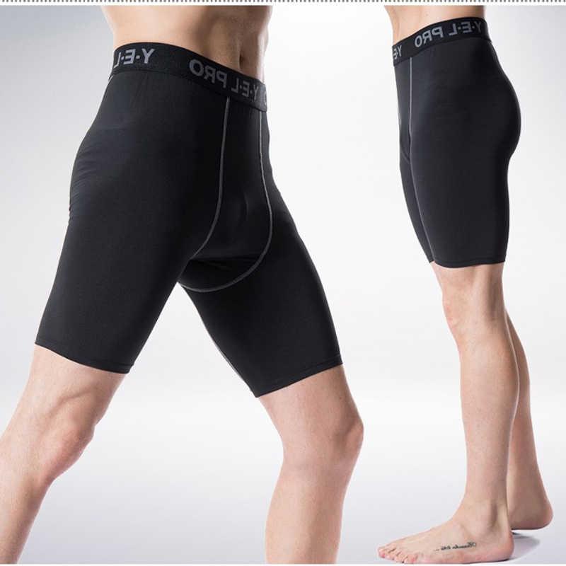 男性の夏のショートメンズショートパンツ男性タイトな速乾性、通気性ソフトで快適な男性 Sporsts ランニングショーツ男性圧縮タイツ