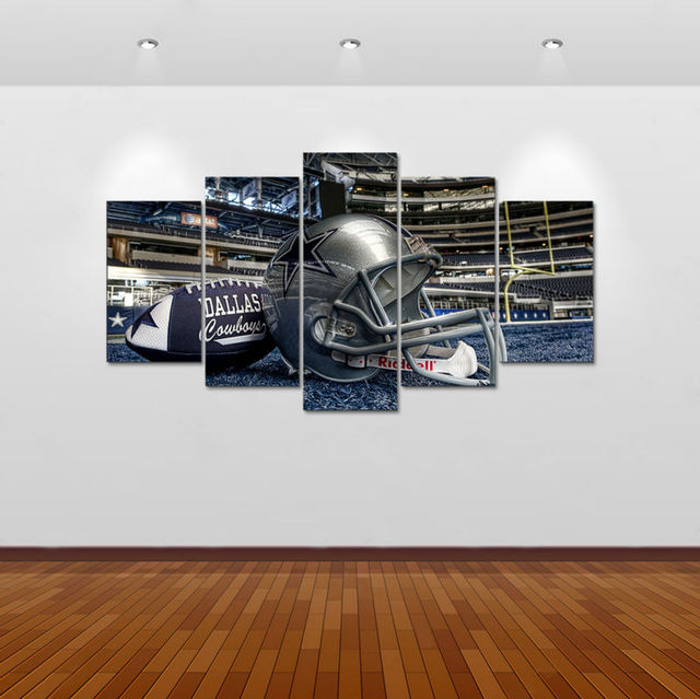 Dallas Cowboys Wall Decor 5pcs art print dallas cowboys painting home decor canvas art print