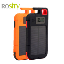 ROSITY Solar Power Bank 20000mah Portable Charger batterie External powerbank solar Charger 2 USB holder function  Poverbank