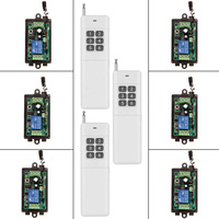 3000m Wide Range DC 9V 12V 24V 1 CH 1CH RF Wireless Remote Control Switch System,6CH Transmitter + Receiver,315 / 433 MHz