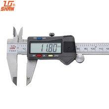 SHAN цифровой суппорт 0-150/200/300/500 мм Датчик Нержавеющая сталь ЖК дисплей дюймов/мм Электронный микрометр измерительный инструмент