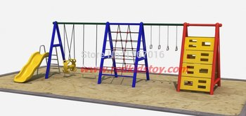 2015 Exported to Chile Residential Area Slide Swing/Playground Swing/Outdoor Patio Swing High Quality Antirust
