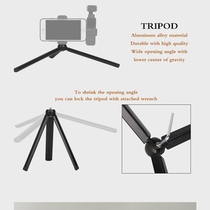 Image 5 - osmo Pocket Handheld selfie stick rod + tripod stabilize holder For DJI osmo Pocket camera gimbal accessories
