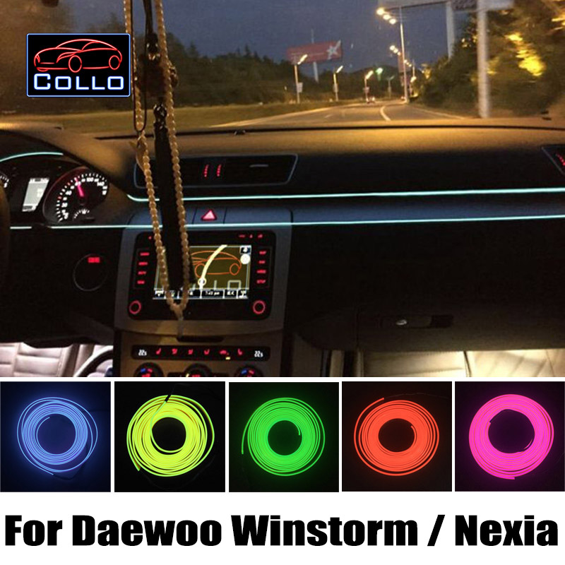 car styling 9m el wire diy for daewoo winstorm maxx nexia car interior romantic atmosphere. Black Bedroom Furniture Sets. Home Design Ideas