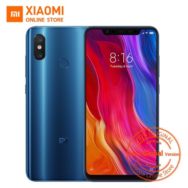 "Global Version Xiaomi Mi 8 Smartphone 6GB 128GB 6.21"" Full Screen Snapdragon 845 Octa Core 20MP Front Camera NFC Mi8 Smartphone"