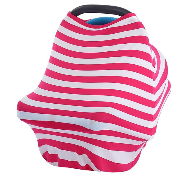 Baby Car Seat Cover Canpany Nursing Breast feeding Cover Multi-Use Stretchy Infinity Scarf Shopping Cart baby  High Chair Cover 2
