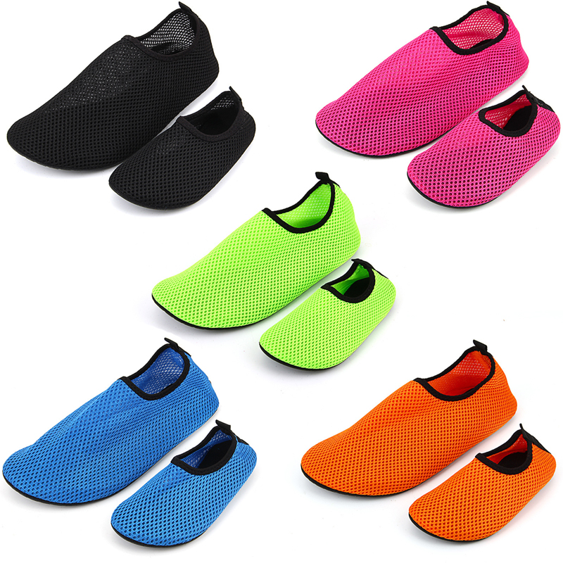 Children Skin Care Warm Shoes Boys And Girls Swimming Breathable Beach Shoes Kid Non-slip Mesh Parent-child Shoes Big Size 24-45
