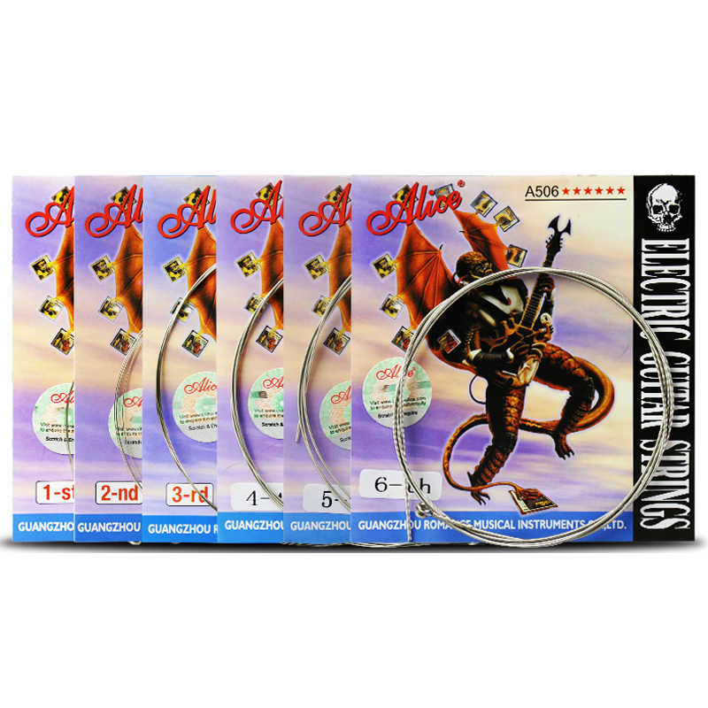 1 pc Guitar Strings Steel Core Plated Steel Coated Nickel Alloy Wound Electric Guitar Strings Super Light 1st-6th