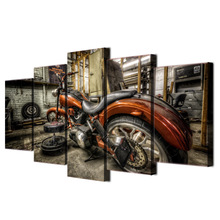 5 piece canvas art motorcycle race HD print wall pictures for living room canvas painting nordic art home decor posters ee6201