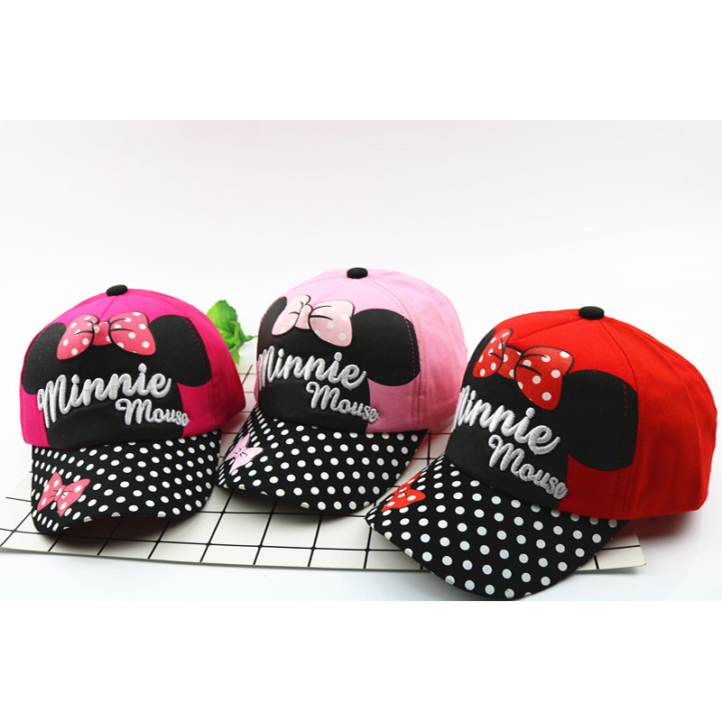 2018 Hot Mouse Minnie Hat Spring Summer Autumn   Baseball     Caps   For Kids Boy And Girl Outdoor Headwear Cute Cartoon Hip Hop   Cap