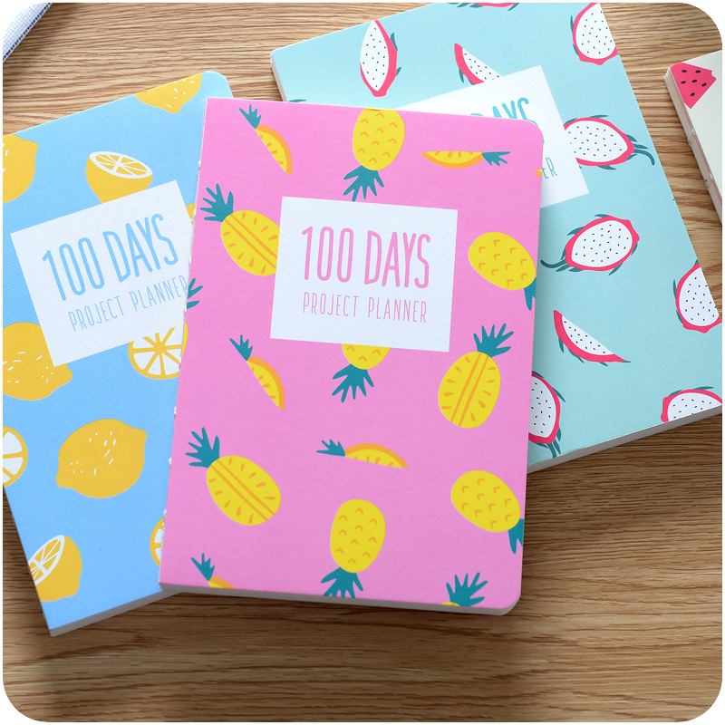 100day plan Cute Schedule Book filofax Diary daily monthly Weekly Planner Notebook agenda planner organizer School Stationery new 2018 cute 365 planner notebook daily happy weekly monthly planner agenda day plan notebooks journal diary stationery a5