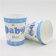 Baby birthday theme printing paper cup tableware for happy birthday Party drinking cups 50pcs used screen printing machine for bottles cups mugs pens paper cup printing machine