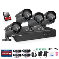 ANNKE 4CH 960P TVI DVR 2000TVL Outdoor Home CCTV Security Camera System 1TB HDD