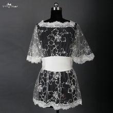 RSJ6 Ivory Bridal Lace Bolero Robes De Mariee Jacket(China) 8747ed996