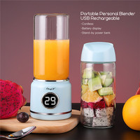 420ML ELectric Mini Juicer Machine Portable Fruit Blender Crusher USB Rechargeable Juicer Cup Mixer Smoothie Maker for Travel 35
