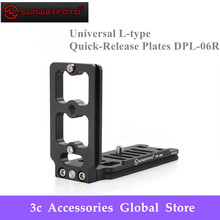SUNWAYFOTO DPL 06R Tripod Monopod Head Universal L type plate for DSLR camera body Professional Aluminum Quick Release Plate
