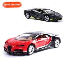 1:32, сплав, оттягивающиеся автомобили, всемирно известный супер спортивный автомобиль Bugatti Veyron, черная, красная, синяя модель, детские карманные игрушки, коллекция, подарок