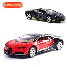1:32 Alloy pull back cars World famous Super sports car Bugatti Veyron black red blue Model Children Pocket Toys collection gift