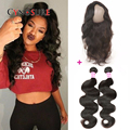 360 Lace Frontal Closure With 2 Bundles Brazilian Body Wave Top 8A Pre Plucked 360 Lace Frontal With Bundles Queen Hair Products