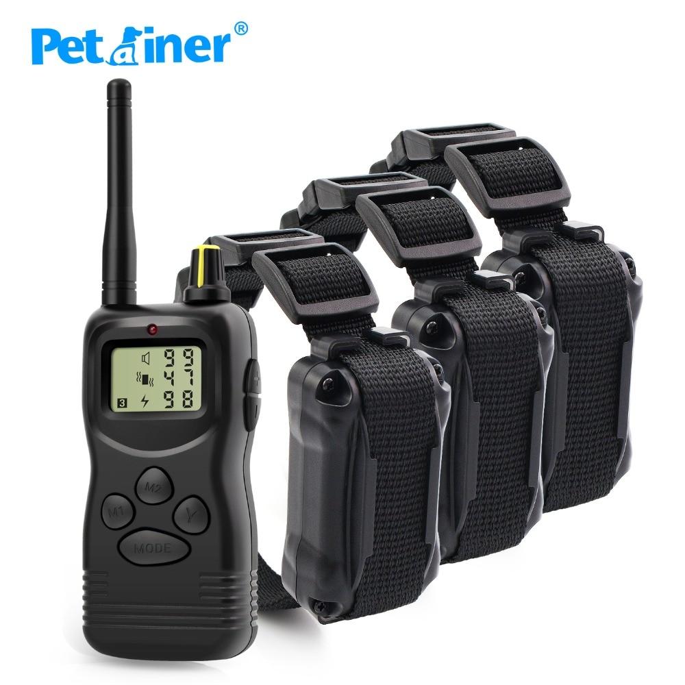Petrainer 900 3 Hot verkoop Dog Training Kraag 3 Honden met 99LV Elektrische Shock LCD Display Basic Control Trainer voor 3 Honden-in Trainingshalsband van Huis & Tuin op  Groep 1