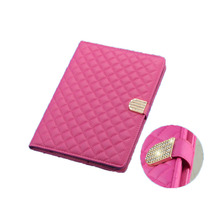 Diamond Magnet Buckle Case for IPAD 2 3 4 Case Cover Pearl Cotton Protective Stripe Case for IPAD Rotation 9.7 Inch Stent Shell