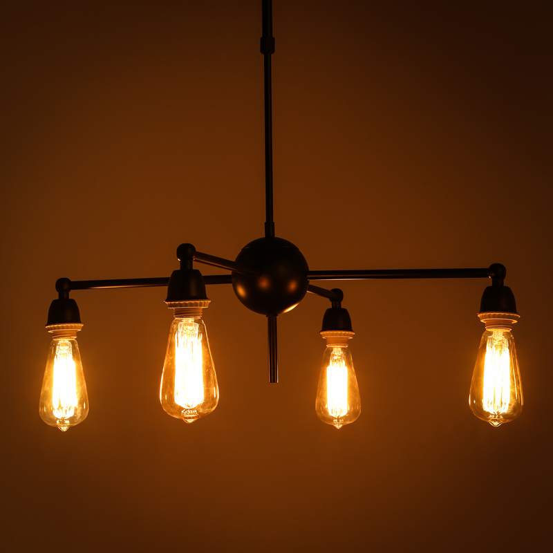 american loft style vintage pendant lights iron industrial retro lamp cafe bar lampen home