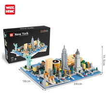 Wisehawk Building Blocks Model Building Kit City Architecture Titanic Statue Of Liberty Educational Toys For Children Nanoblocks wisehawk nanoblocks zootopia judy hopps nick wilde plastic building blocks bricks anime cartoon diy model educational toys kids